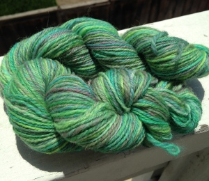 Dyed, spun, and chain plied by me!!!